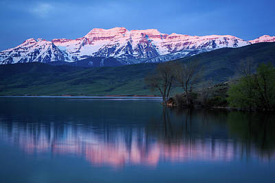 Photograph - Spring Timpanogos Reflection by Johnny Adolphson