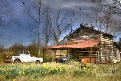 Photograph - Spring Tobacco Barn by Benanne Stiens