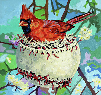 Painting - Spring Training by John Lautermilch