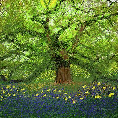Digital Art - Spring Tree by Dick Bourgault