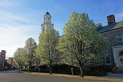 Photograph - Spring Trees Along The Taberbacle Church Downtown Salem Ma by Toby McGuire
