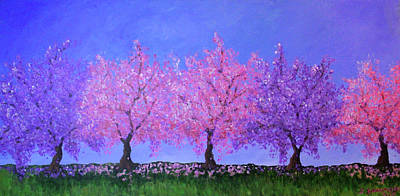 Painting - Spring Trees by Janet Greer Sammons