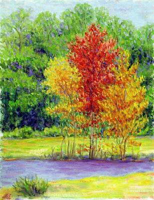 Painting - Spring Tree's by Jean Ehler