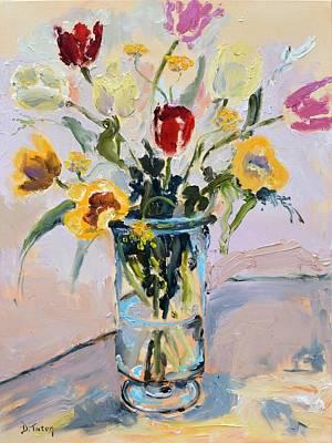 Painting - Spring Tulip Bouquet Still Life by Donna Tuten