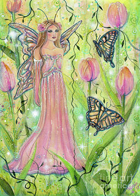 Painting - Spring Tulip Fairy by Renee Lavoie