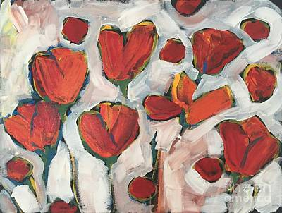 Painting - Spring Tulip Garden by Tonya Henderson