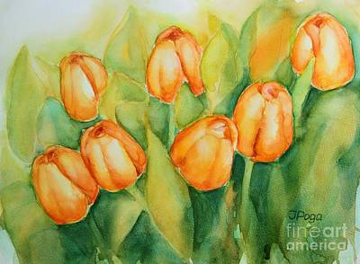 Painting - Spring Tulips 1 by Inese Poga