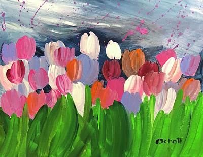 Painting - Spring Tulips by Christina Schott