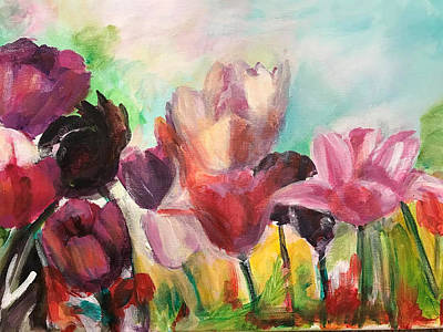 Painting - Spring Tulips by Denice Palanuk Wilson