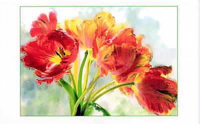 Spring Tulips Art Print by Margaret Hood