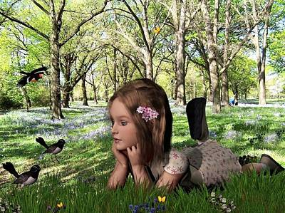 Digital Art - Spring Visitors by Nancy Pauling