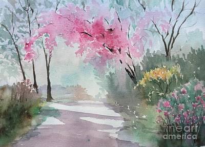 Spring Walk Art Print by Yohana Knobloch