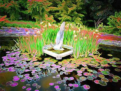 Digital Art - Spring Water Pond by Leslie Montgomery