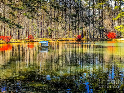 Photograph - Spring Water Reflection My Secret Place by Peggy Franz