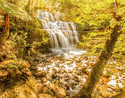 Nature Art Photograph - Spring Waterfall by Jorgo Photography - Wall Art Gallery