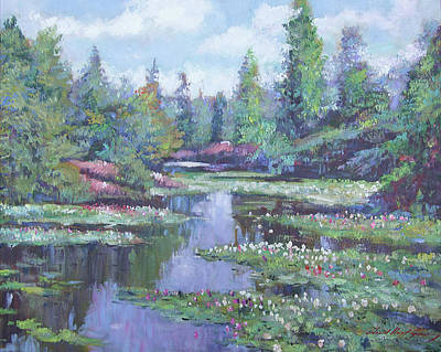 Painting - Spring Watergarden by David Lloyd Glover