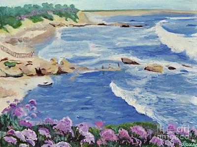 Laguna Beach Painting - Spring Waves by Laura Sullivan