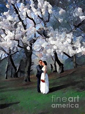 Photograph - Spring Wedding by Miriam Danar