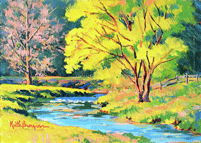 Meadow Willows Painting - Spring Willow by Keith Burgess