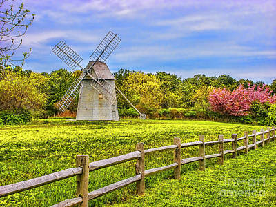 Photograph - Spring Windmill by Rick Bragan