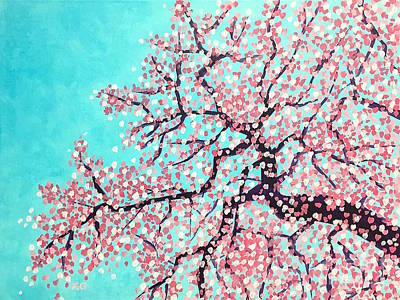 Cherry Blossoms Painting - Spring by Wonju Hulse