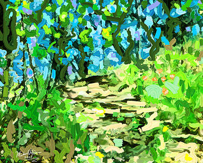 Painting - Spring Wood Path  by Michael A Klein