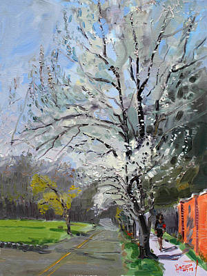 Tree Blossoms Painting - Spring by Ylli Haruni