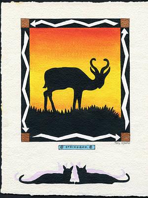 Painting - Springbok by Phil Dynan
