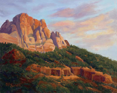 Painting - Springdale Sunset On Johnson Mountain by Sandy Fisher