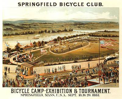 Mixed Media - Springfield Bicycle Club - Bicycle Camp - Vintage Advertising Poster by Studio Grafiikka