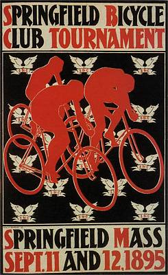 Mixed Media - Springfield Bicycle Club Tournament - USA - Vintage Advertising Poster by Studio Grafiikka