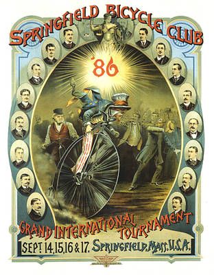 Mixed Media - Springfield Bicycle Club - Tournament - Vintage Advertising Poster by Studio Grafiikka