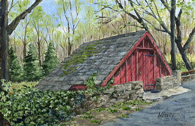 Painting - Springhouse At Cuttalossa by Margie Perry