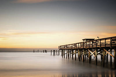 South Carolina Wall Art - Photograph - Springmaid Pier Mathew Aftermath by Ivo Kerssemakers