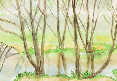 Painting - Springn Landscape, Painting by Irina Afonskaya