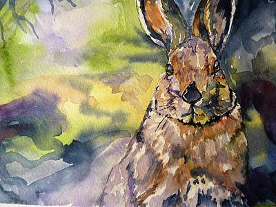 Art Print featuring the painting Springs Almost Hare by P Maure Bausch
