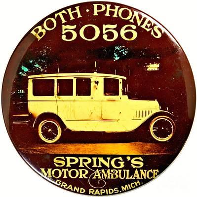 Digital Art - Springs Motor Ambulance Grand Rapids Michigan 1915 by Peter Ogden