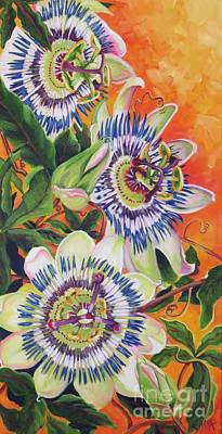 Passion Flower Vine Painting - Springs Promise by Elissa Anthony