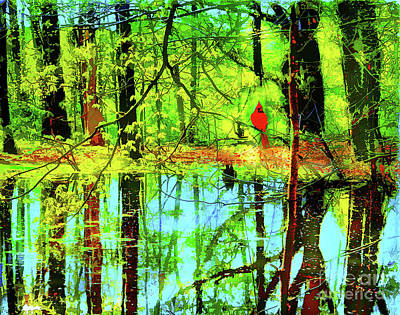 Digital Art - Springs Reflection by Gina Signore