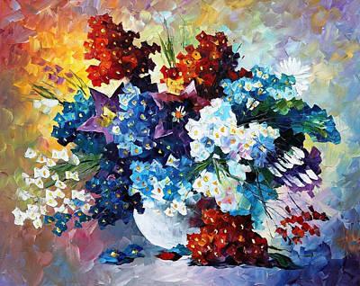 Springs Smile - Palette Knife Oil Painting On Canvas By Leonid Afremov Original by Leonid Afremov