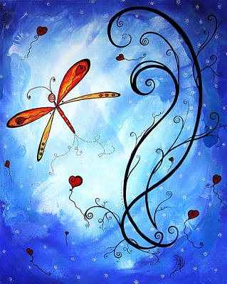 Springs Sweet Song Original Madart Painting Art Print by Megan Duncanson