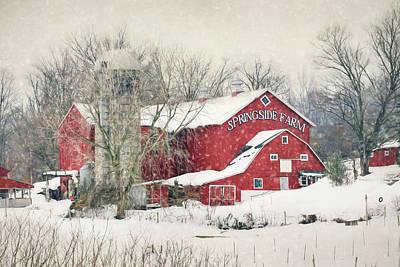 Barn Digital Art - Springside Farm by Lori Deiter