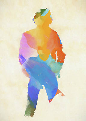 Painting - Springsteen From Behind by Dan Sproul