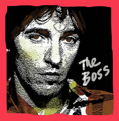 Bruce Springsteen Mixed Media - Springsteen The Boss  by Enki Art