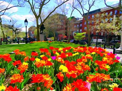 Photograph - Springtime At Abingdon Square Park by Ed Weidman