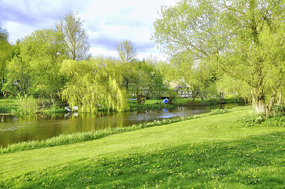 Photograph - Springtime At Lazy Stream by Hans Erik Nielsen
