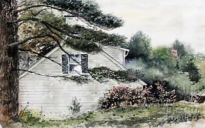 Painting - Springtime At Round Pond Maine by Monte Toon