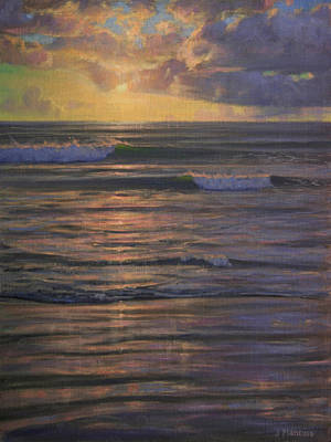 Sunset Painting - Springtime At The Pacific by Joe Mancuso