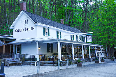 Wissahickon Creek Photograph - Springtime At The Valley Green Inn by Bill Cannon