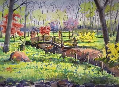 Springtime Backyard Art Print by Spencer Meagher